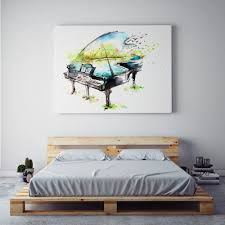 aliexpress com buy xdr013 watercolor canvas painting piano aliexpress com buy xdr013 watercolor canvas painting piano guitar violin oil painting modern music instrument wall art painting for living room and from