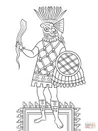 tlaloc aztec god of rain fertility and water coloring page free