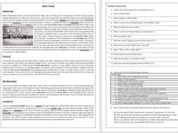 black friday reading comprehension worksheet vocabulary