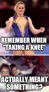 Tonya Meme - taking a knee imgflip
