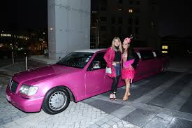 pink mercedes pink extravaganza limousine extreme