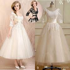 tea length wedding dresses with sleeves wedding dresses wedding