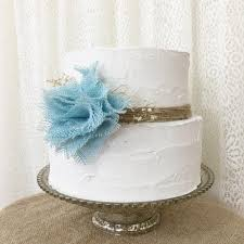 burlap cake topper idea aqua blue burlap flower rustic wedding