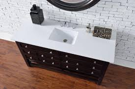abstron 60 inch espresso single sink transitional bathroom vanity