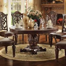 acme furniture vendome 72 inch round single pedestal dining table