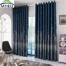 Blue And Gold Curtains Shop Myru Mediterranean Navy Blue Curtains Rural Silver And
