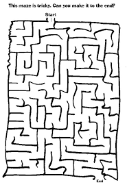 coloring page marvelous fun printable mazes coloring page fun