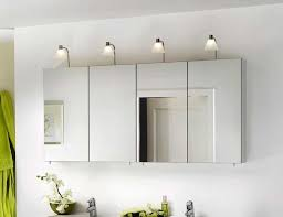 mirrored bathroom wall cabinet with awesome lighting home