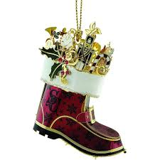 santa s boot 3d ornament handcrafted in the usa item 55942