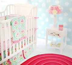 Pink And Aqua Crib Bedding Floral Crib Bedding Floral Nursery