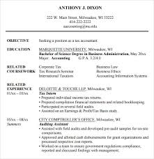 Tax Accountant Resume Sample by Accounting Resume 9 Free Samples Examples Format