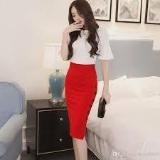 2017 autumn winter long cotton skirt women high waist maxi pencil