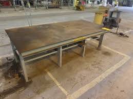 48 x 96 table plymouth tube company online auction 1 48 x 96 welding table