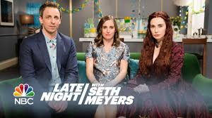 melisandre at a baby shower late night with seth meyers youtube