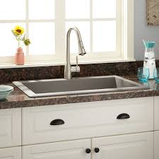 Kitchen Faucets For Granite Countertops Sinks Granite Countertops Blue Glass Flower Vase Double Bowl Drop