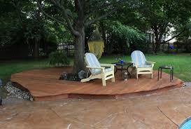Backyard Decks Ideas Deck How To Build Ground Level Deck Plans For All Your Home And