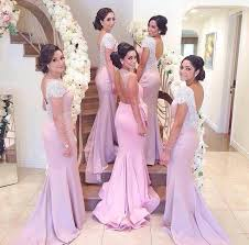fitted bridesmaid dresses sleeve wedding dresses backless sweep