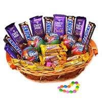chocolate basket delivery gifts to ahmedabad send rakhi chocolate to bhuj chocolates