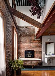 cool bathrooms ideas bathroom small loft bathrooms with exposed brick walls 19