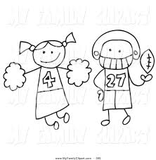 cheerleading coloring pages 2 coloring page