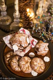 spiced christmas cookies with hazelnuts and candied orange peel