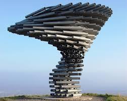 singing steel tree sculpture