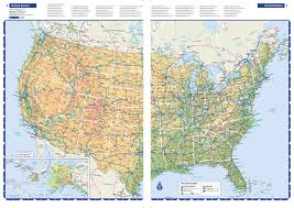 Route 66 Map United States Road Map Fabric Sale Usa United States Route 66 Road
