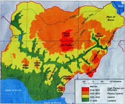 nigeria physical map nigeria geographical features of nigeria onlinenigeria