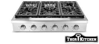 Slide In Gas Cooktop Thor Kitchen Stoves Professional Stainless Steel Ranges And Hoods