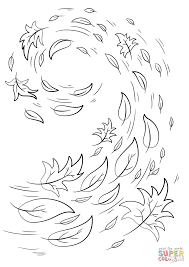 swirling autumn leaves coloring page free printable coloring pages