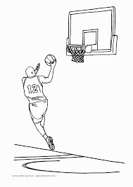 basketball coloring pages scrapbooking prints pinterest