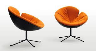 organic design armchair fabric leather metal one flo