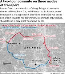 Atlanta Ga Airport Map by For The Poor In The Deep South U0027s Cities Simply Applying For A Job