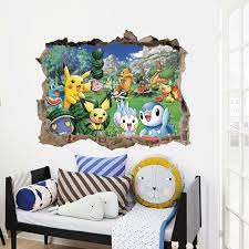 Aliexpresscom  Buy Cartoon Pikachu Pokemon Go Wall Stickers For - Kids rooms decals