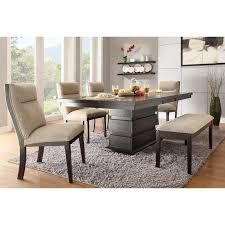 Rugs For Under Kitchen Table by Dining Room Decorating Design Ideas Using Furry Grey Rug Under