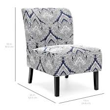 Upholstered Accent Chair Modern Contemporary Upholstered Accent Chair Blue White U2013 Best