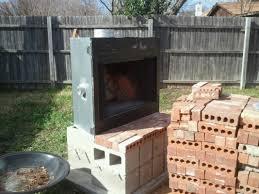 Building Outdoor Fireplace With Cinder Blocks by Download How To Build Outdoor Fireplace Garden Design