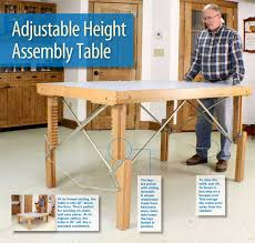 Woodworking Workbench Height by Aw Extra 7 11 13 Adjustable Height Assembly Table Popular
