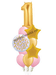1st birthday balloon delivery birthday balloon bouquet surrey vancouver bc party dreams