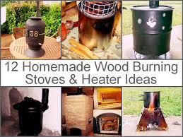 12 homemade wood burning stoves and heater ideas jpg