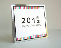 new year photo card ideas count to the new year with this shiny handmade card new