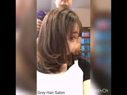 perm for grey hair layering c perm by grey hair salon youtube