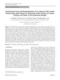 experimental setup and standardization of a continuous flow stable