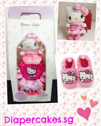 2 tier kitty diaper cake baby gifts singapore diaper cakes