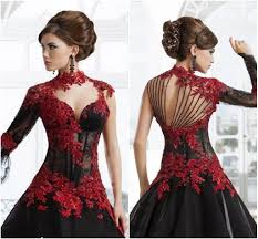 the perfect wedding dress black and red lace wedding dresses ball