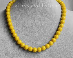 etsy beads necklace images Yellow bead necklace etsy jpg