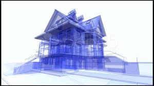blue print house 3d architecture blueprint of the house footage 599338