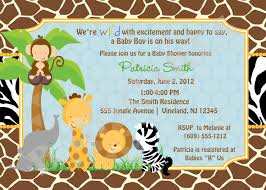 jungle baby shower ideas jungle themed baby shower invitations plumegiant
