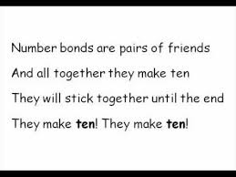 number bonds are pairs of friends number bonds to 10 song youtube
