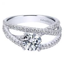gabriel and co engagement rings er10204w44jj gabriel co pave free form basket center